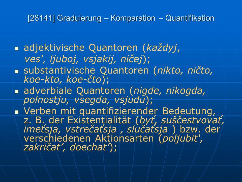 [28141] Graduierung – Komparation – Quantifikation
